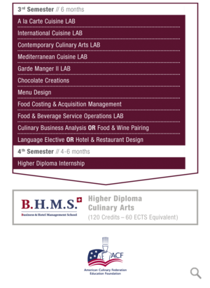 Higher Diploma in Culinary Arts